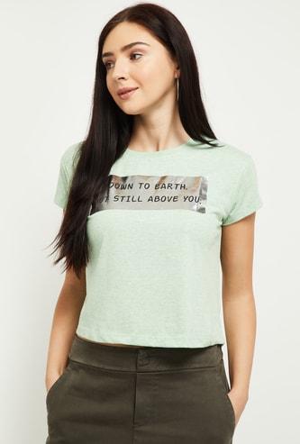 MAX Printed Crop T-Shirt