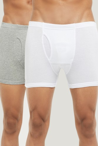 MAX Solid Elasticated Trunks- Pack of 2