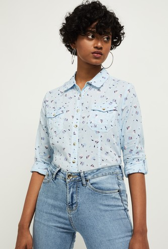 MAX Floral Print Woven Shirt