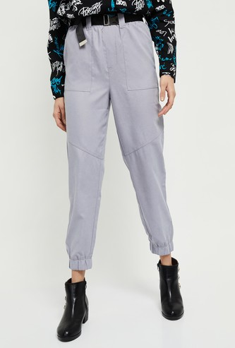 MAX Solid Elasticated Waist Jogger Pants