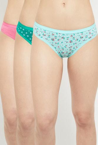 MAX Printed Elasticated Bikini Panty - Pack of 3