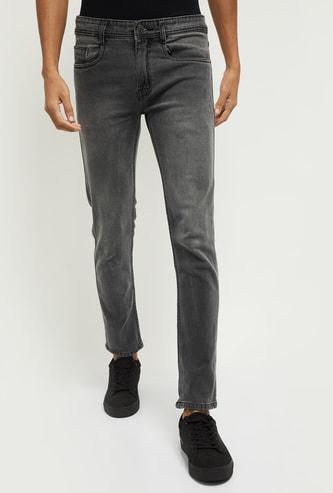 MAX Stonewashed Skinny Fit Denim Jeans