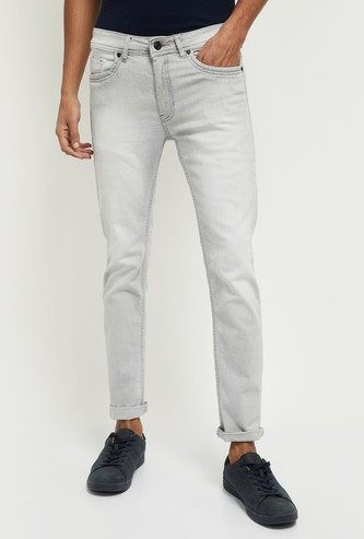MAX Ice-Washed Skinny-Fit Jeans