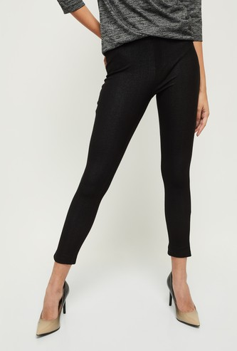 MAX Solid Knit Full-Length Jeggings