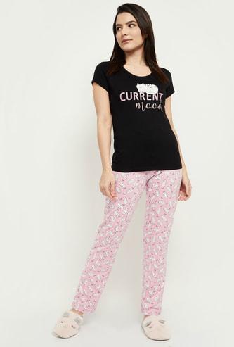 MAX Printed Lounge T-shirt with Pyjamas