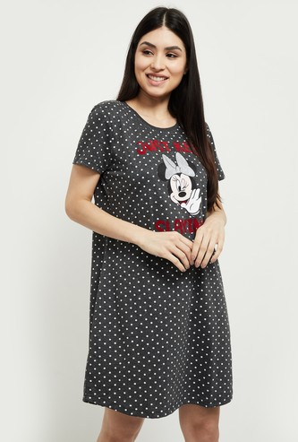 MAX Graphic Print Short Sleeves Chemise