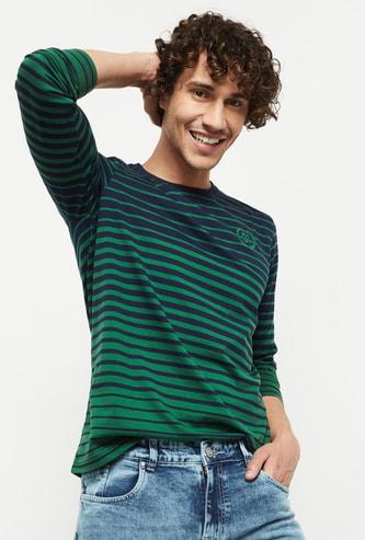 MAX Striped Crew Neck Regular Fit T-shirt