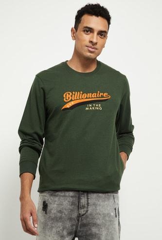 MAX Typography Print Sweatshirt