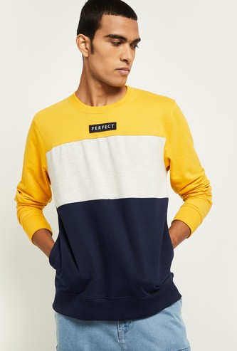 MAX Colourblock Crew Neck Sweatshirt