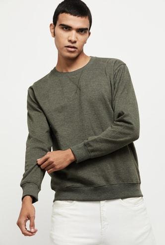 MAX Solid Full Sleeve Sweatshirt