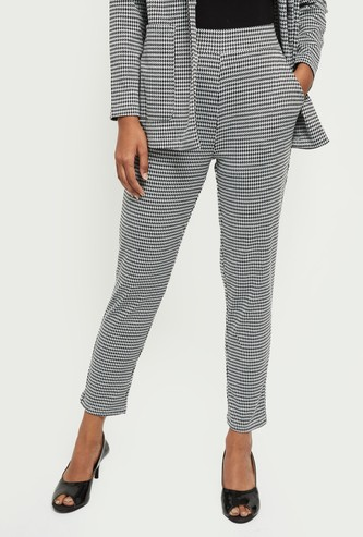 MAX Houndstooth Pattern Formal Trousers