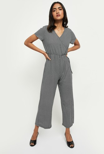 MAX Houndstooth Pattern Jumpsuit