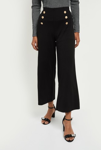 MAX Solid Knit Flared Pants