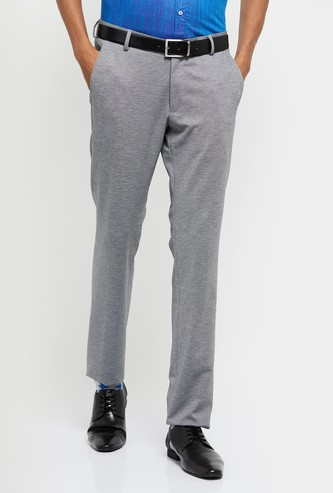 MAX Textured Ultra Slim Fit Formal Trousers