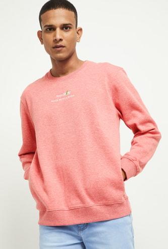 MAX Textured Crew Neck Sweatshirt