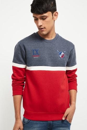 MAX Colorblocked Crew Neck Sweatshirt
