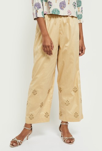MAX Embroidered Elasticated Trousers