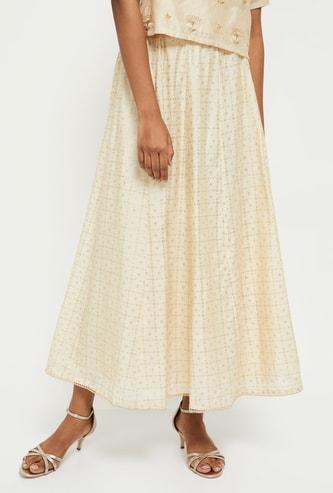 MAX Textured Maxi Skirt