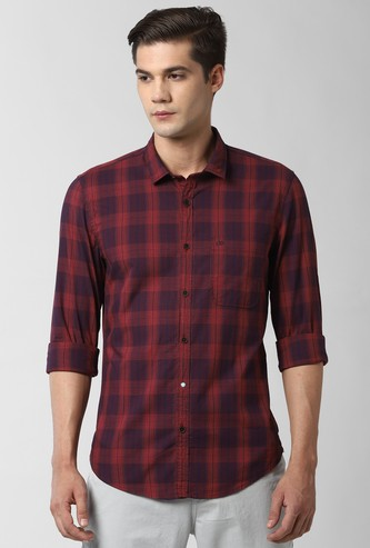 PETER ENGLAND Checked Slim Fit Casual Shirt