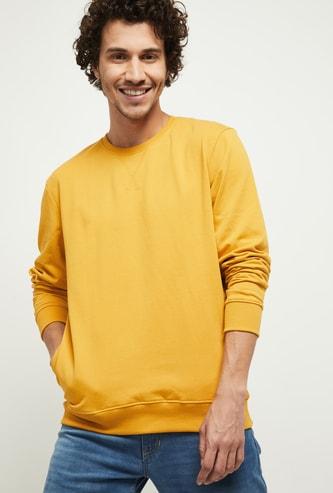 MAX Solid Full Sleeves Crew Neck Sweatshirt