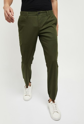MAX Solid Skinny Fit Jogger Trousers