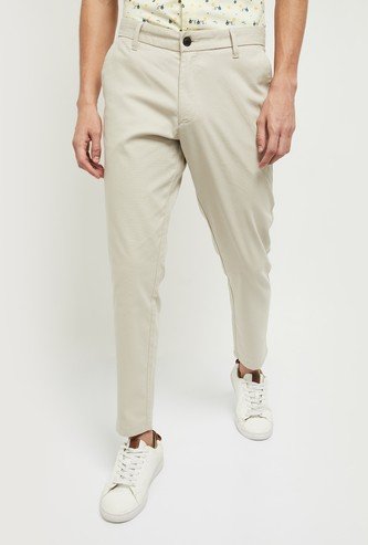 MAX Solid Textured Chinos