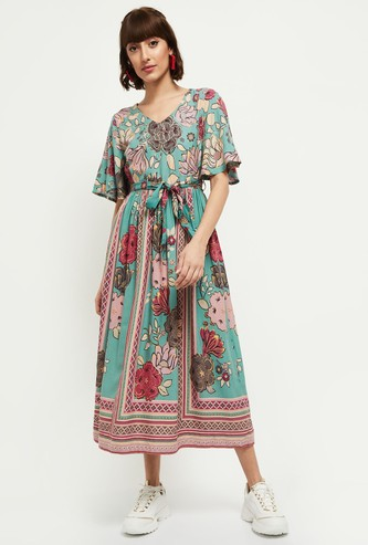 MAX Printed Woven A-Line Dress