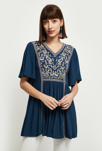 MAX Embroidered A-Line Tunic