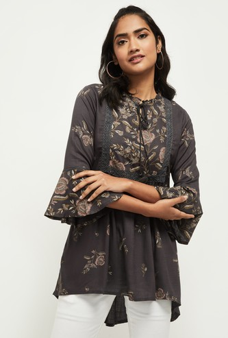 MAX Embroidered High-Low Hem Tunic