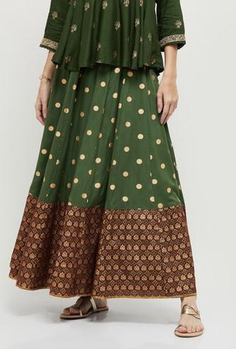 MAX Printed Ethnic Maxi Skirt