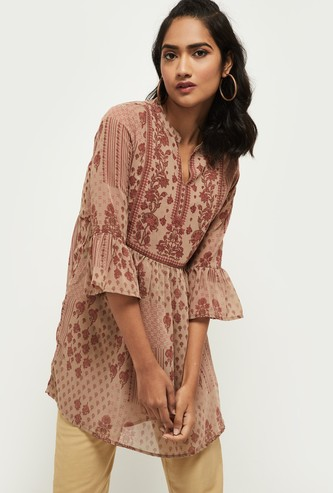 MAX Printed Bell Sleeves Tunic