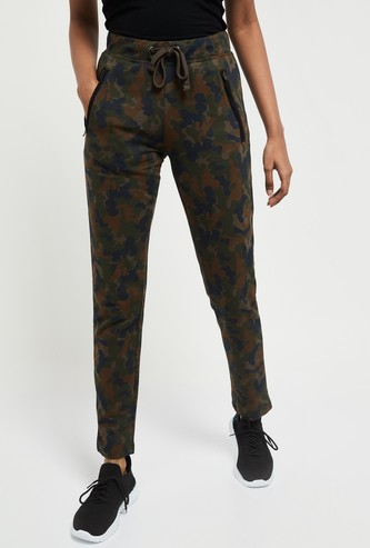 MAX Camouflage Print Track Pants