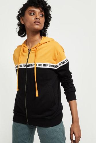 MAX Printed Full Sleeves Hooded Jacket