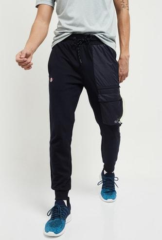 MAX Colour-Blocked Drawstring Waist Sports Joggers