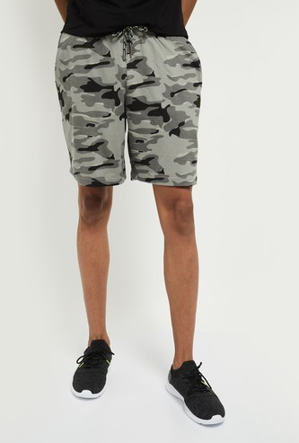 MAX Camouflage Printed Casual Shorts
