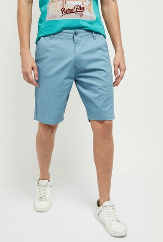 MAX Solid Casual Stretch Shorts
