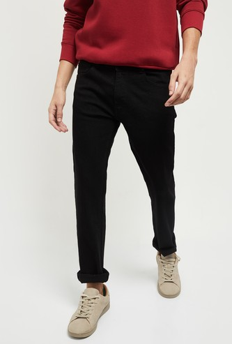 MAX Solid Smart Fit Jeans