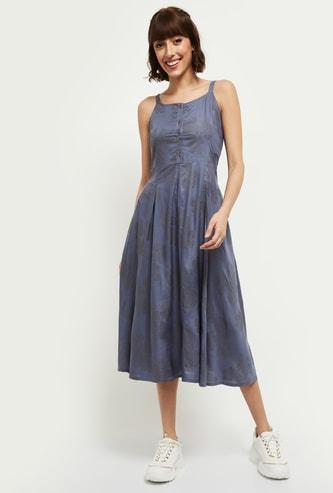 MAX Embellished Sleeveless Midi Dress