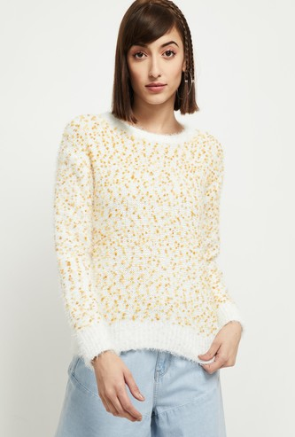 MAX Woven Full Sleeves Sweater