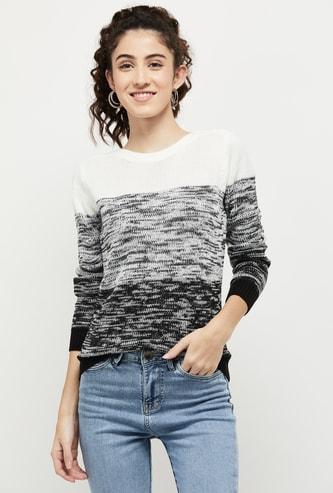 MAX Textured Round Neck Sweater