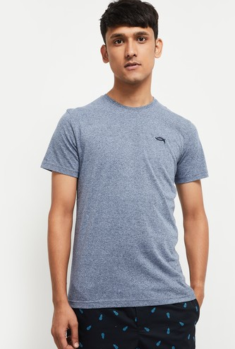 MAX Solid Crew Neck Loungewear T-shirt