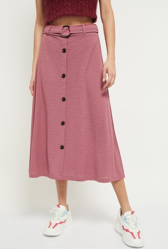 MAX Solid Midi Skirt