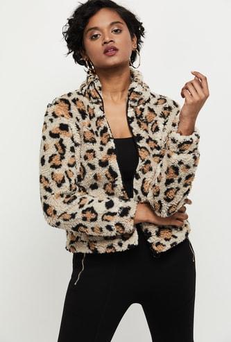 MAX Textured Faux Fur Jacket