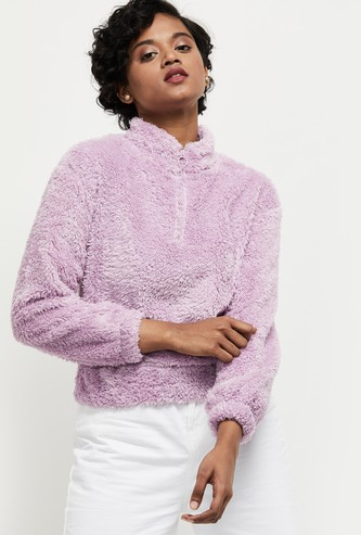 MAX Solid Open-Front Sweater