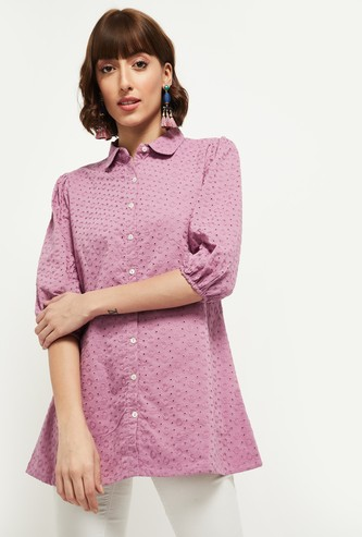 MAX Embroidered Woven Tunic