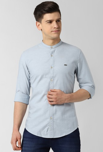 PETER ENGLAND Solid Full Sleeves Casual Shirt