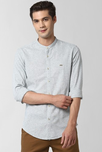 PETER ENGLAND Textured Full Sleeves Casual Shirt