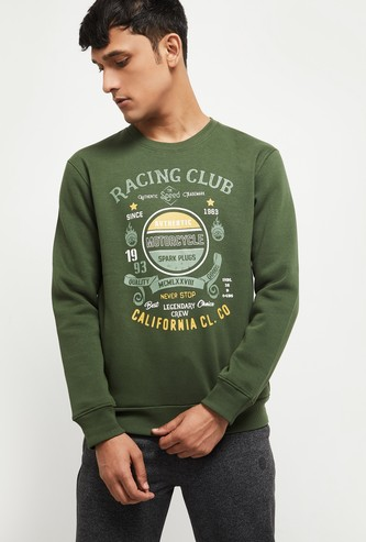 MAX Printed Crew Neck Lounge Sweatshirt
