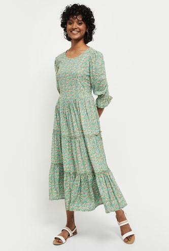 MAX Floral Print Maxi Dress