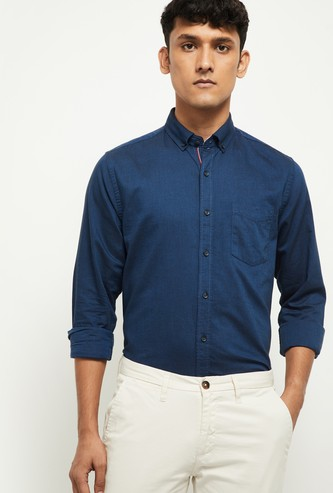 MAX Solid Smart Casual Shirt